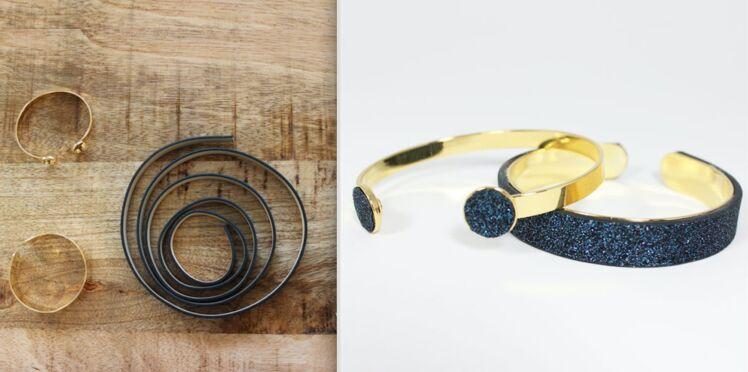 Facile et rapide, des bracelets pailletés tendance