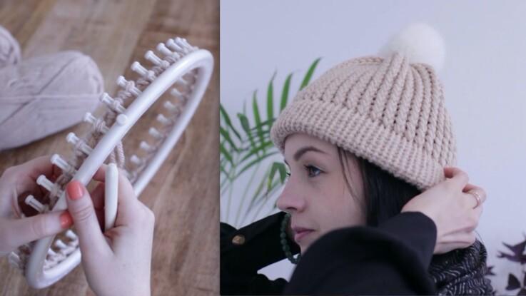 nouvelle arrivee large sélection rechercher l'original FEMME ACTUELLE : facile et rapide, un bonnet au tricotin géant