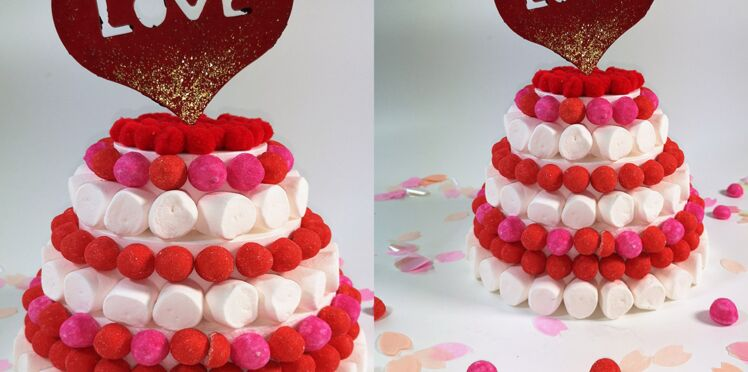Saint-Valentin : comment décorer un gâteau avec des bonbons ?