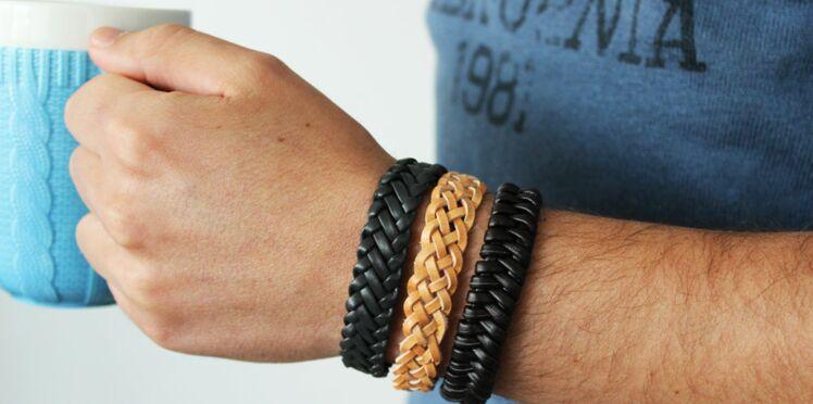 Bracelet pour homme, 3 façons de tresser le cuir