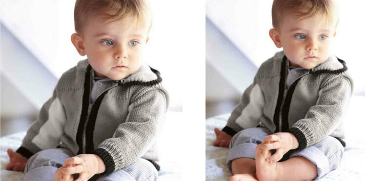 Tricot gratuit : le blouson enfant avec zip