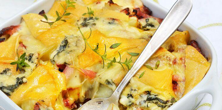 Gratin aux deux fromages