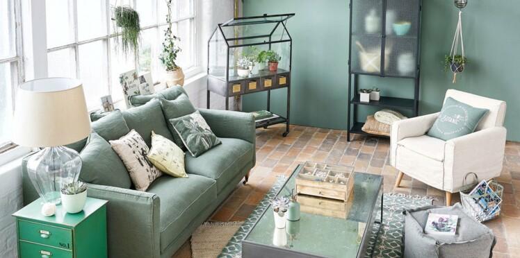 Salon contemporain en vert : comment adopter cette tendance : Femme ...
