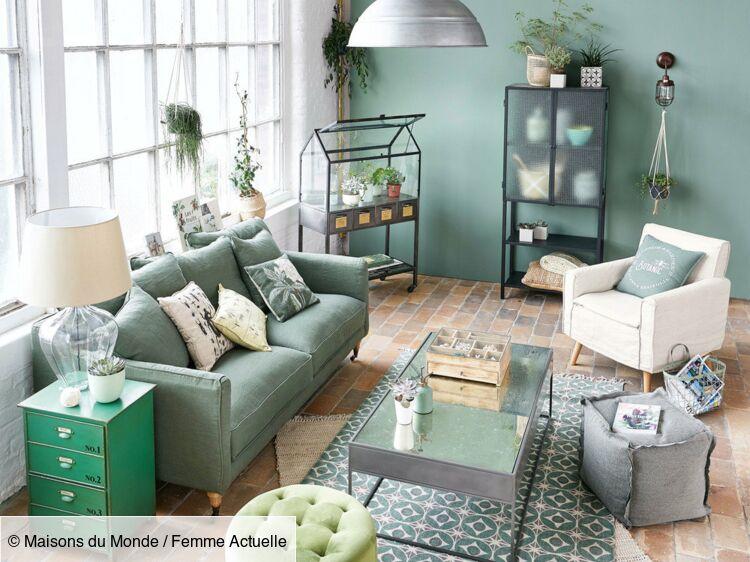 Salon contemporain en vert : comment adopter cette tendance ...