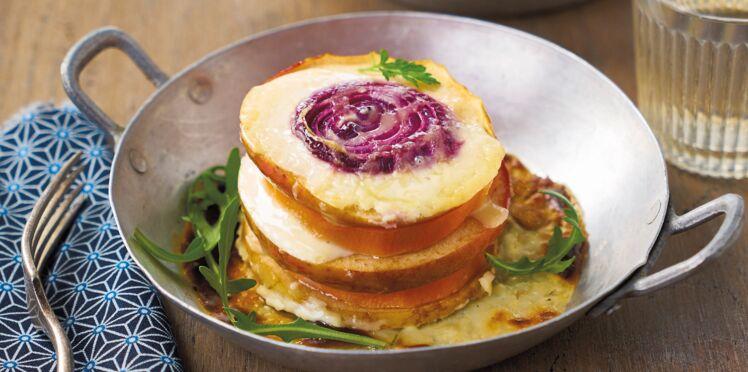 Duo de pommes Antarès® et patate douce en millefeuille