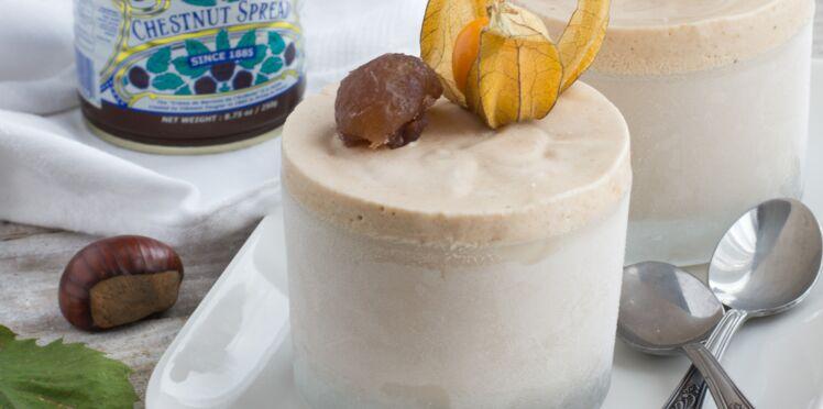 Soufflés glacés à la crème de marrons