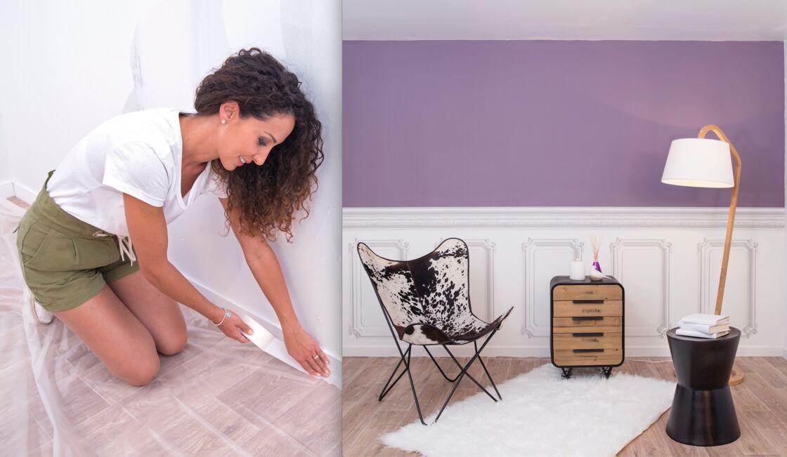 Emmanuelle Rivassoux Remet à Neuf Un Mur Abimé Avec De La Peinture Et Du Papier Peint