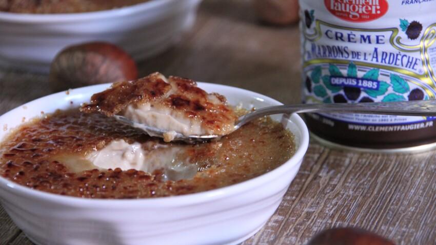Crème brulée à la crème de marrons