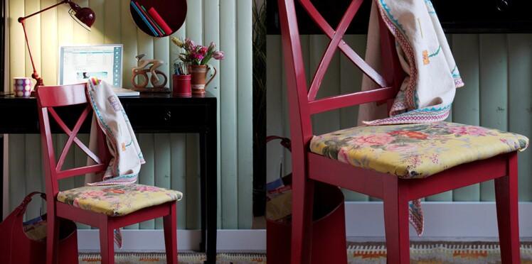 Relooking de meuble : comment peindre et tapisser une chaise en bois