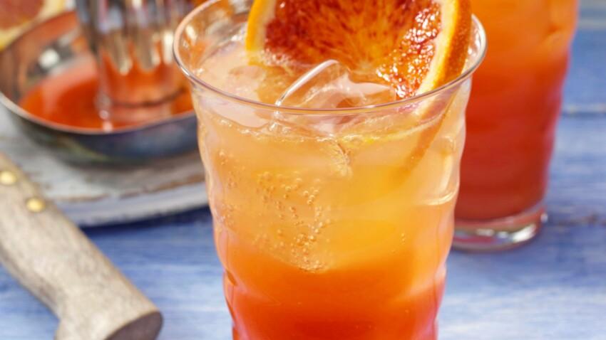 Soda maison à l'orange sanguine
