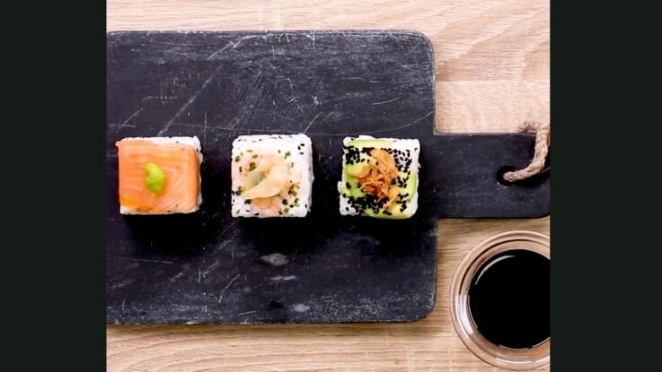 Sushis faciles : la recette d'Abdel Alaoui avec un bac à glaçons