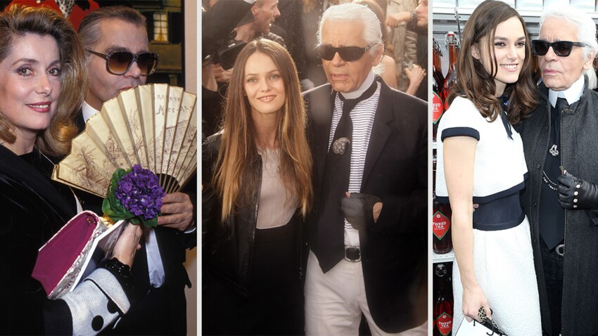 Karl Lagerfeld : Vanessa Paradis, Inès de la Fressange, Catherine Deneuve... D'égéries à amies, toutes les femmes qui ont inspiré le Kaiser de la mode