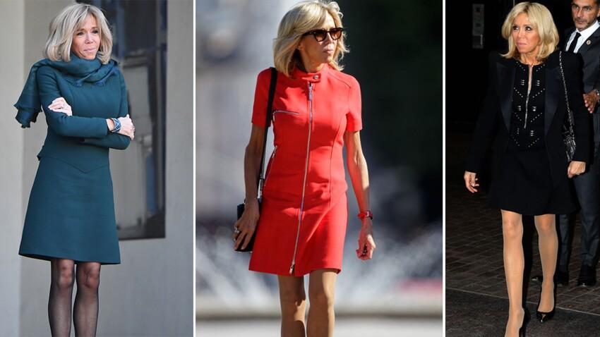 Robes courtes et mini-jupes, Brigitte Macron ne rate pas une occasion de dévoiler son incroyable jeu de jambes