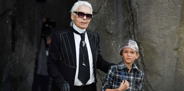 Photos - Mort de Karl Lagerfeld : qui est Hudson Kroenig, 10 ans, petit protégé du grand couturier (et possible héritier) ?