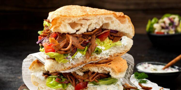 Sandwich turc végétarien