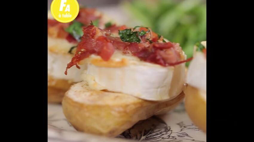 Facile et rapide : la recette des pommes de terre farcies au chèvre