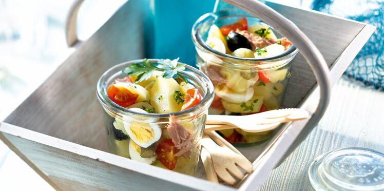 Salade de pommes de terre bonnotte façon niçoise