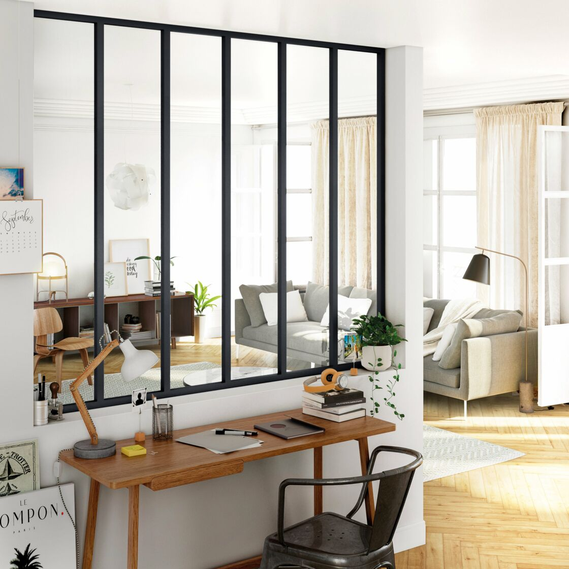 4 façons d\'adopter la verrière pour créer une pièce en plus ...
