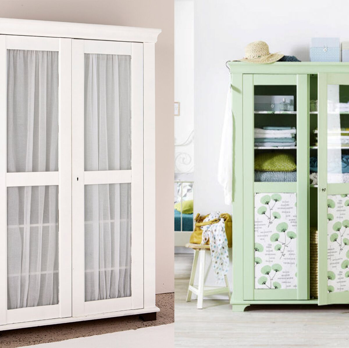 Comment Customiser Une Armoire relooking de meuble : comment moderniser une armoire vitrée