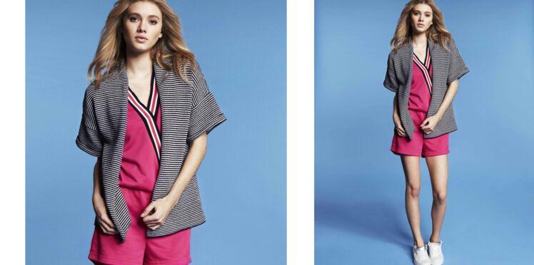 Tricot gratuit : la veste en jersey rayé