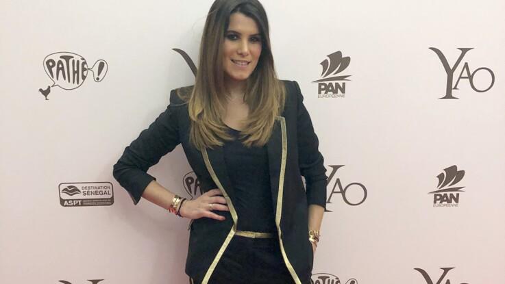 Karine Ferri, en combishort et cuissardes, illumine la Fashion Week