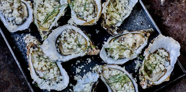 Huîtres creuses poire et raifort