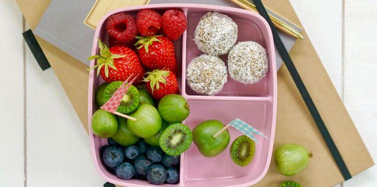 Energy Balls, mini-kiwis, citron vert et noix de coco