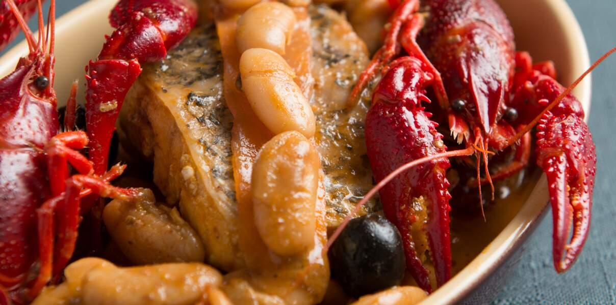Cassolette de haricots tarbais aux écrevisses