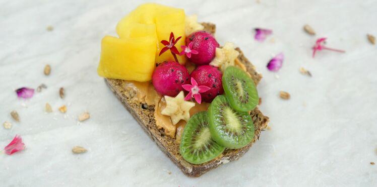 Tartines gourmandes aux mini-kiwis
