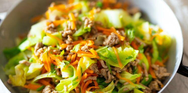 Poêlée de légumes au bœuf, aux épices douces