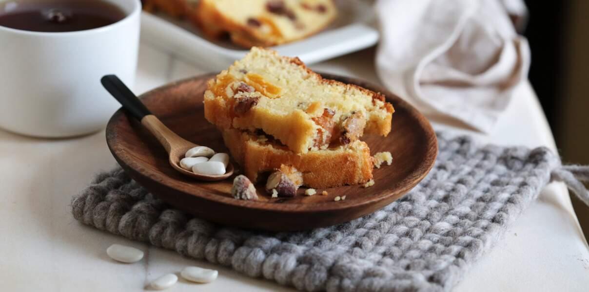 Cake moelleux aux haricots tarbais & fruits secs