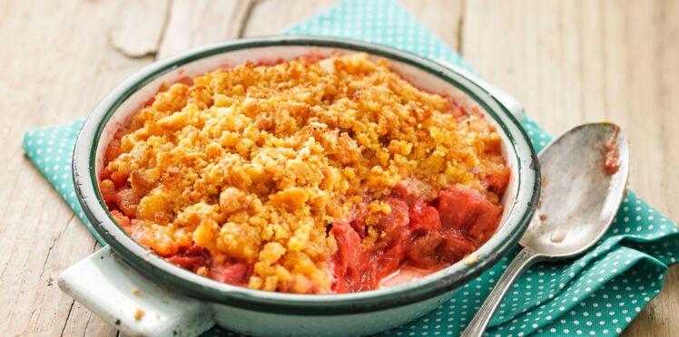 Crumble rhubarbe et fraise