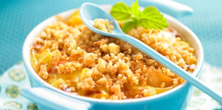 Gratin de fruits frais en croûte de palets bretons