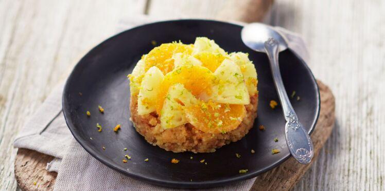 Tartelettes ananas et agrumes