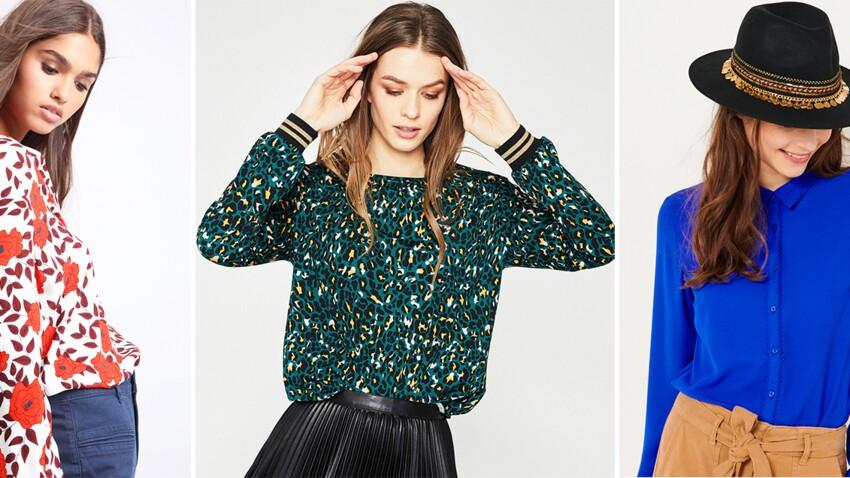 Chemises, tops et blouses tendance : nouveautés canons à moins de 20 € !
