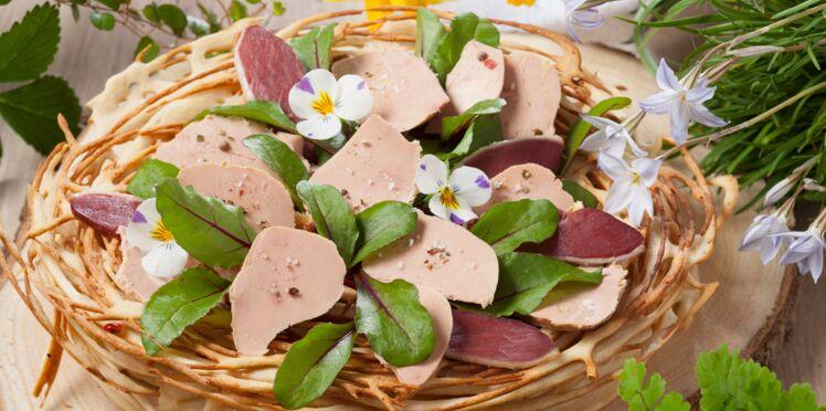Nid de Pâques aux foie gras et magret