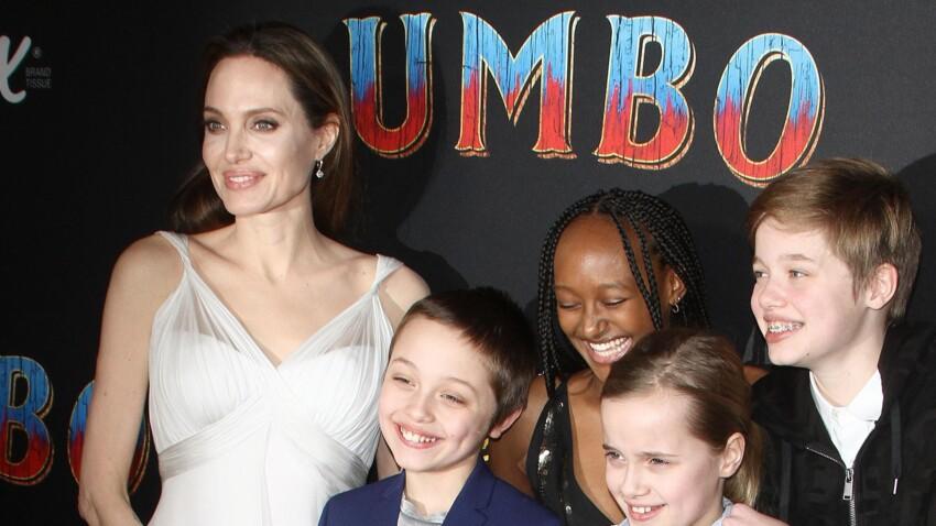 """Photos - Angelina Jolie épanouie : elle s'affiche avec ses sublimes enfants à la première de """"Dumbo"""""""