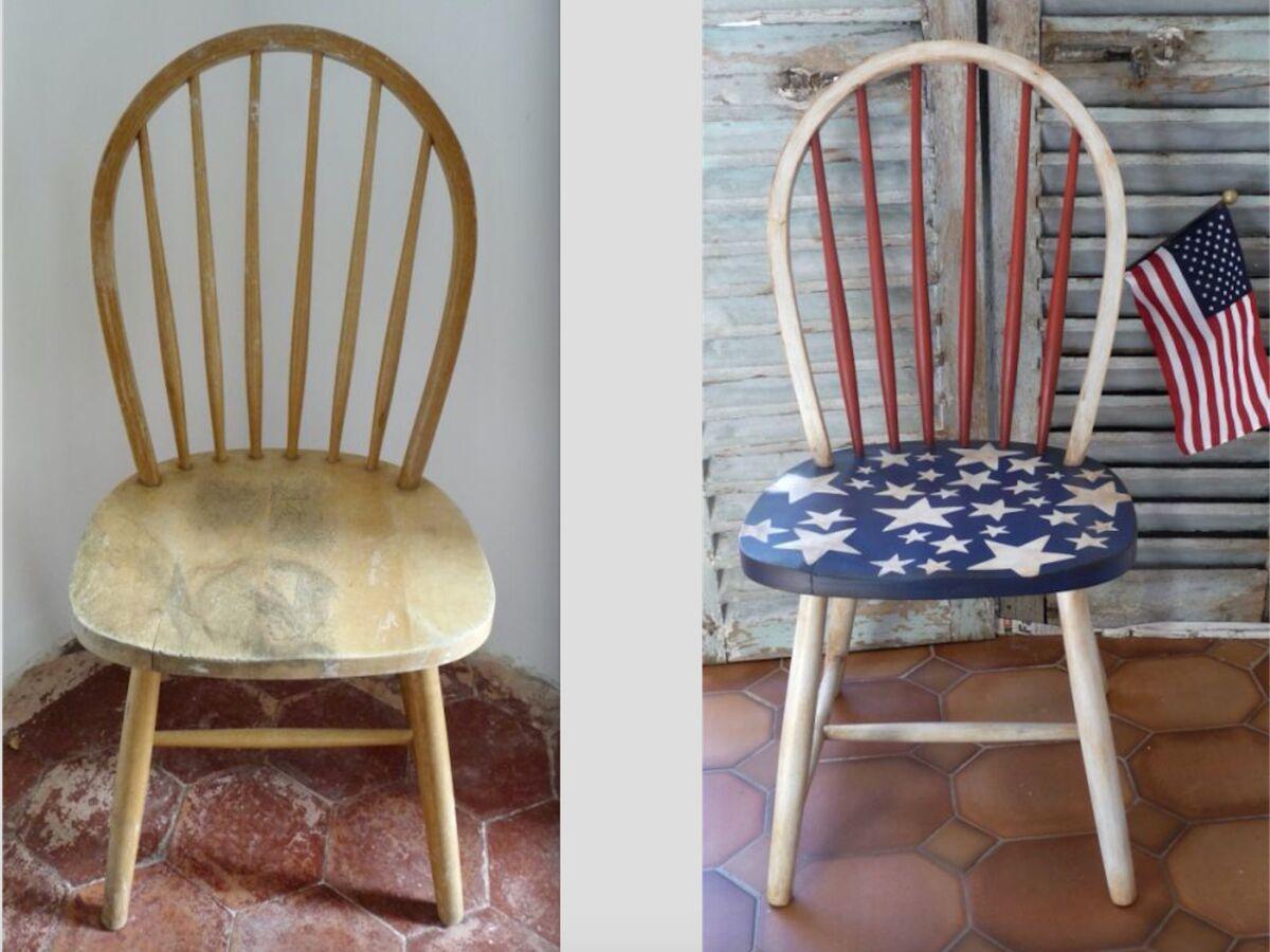 Comment Tapisser Une Chaise Ancienne relooker et patiner une chaise en bois : femme actuelle le mag
