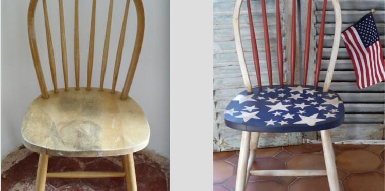 relooker et patiner une chaise en bois femme actuelle le mag. Black Bedroom Furniture Sets. Home Design Ideas