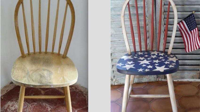 Relooker et patiner une chaise en bois