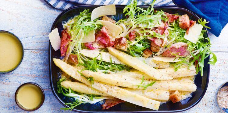 Salade d'asperges des Landes façon César