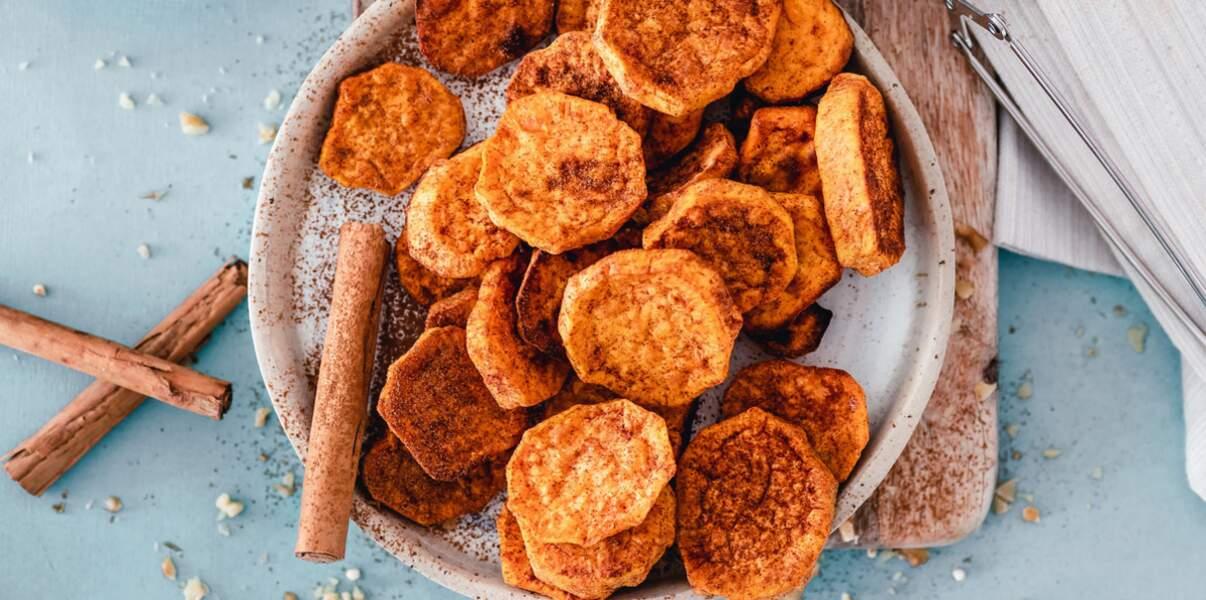 Patates douces à la cannelle
