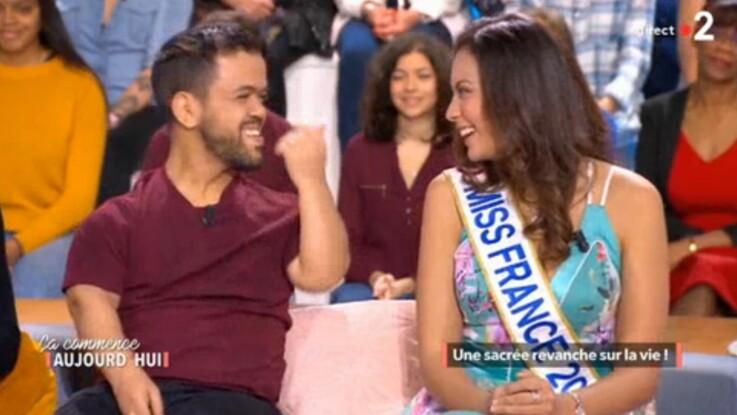 Quand Vaimalama Chaves (Miss France 2019) vanne Anouar Toubali sur sa petite taille !