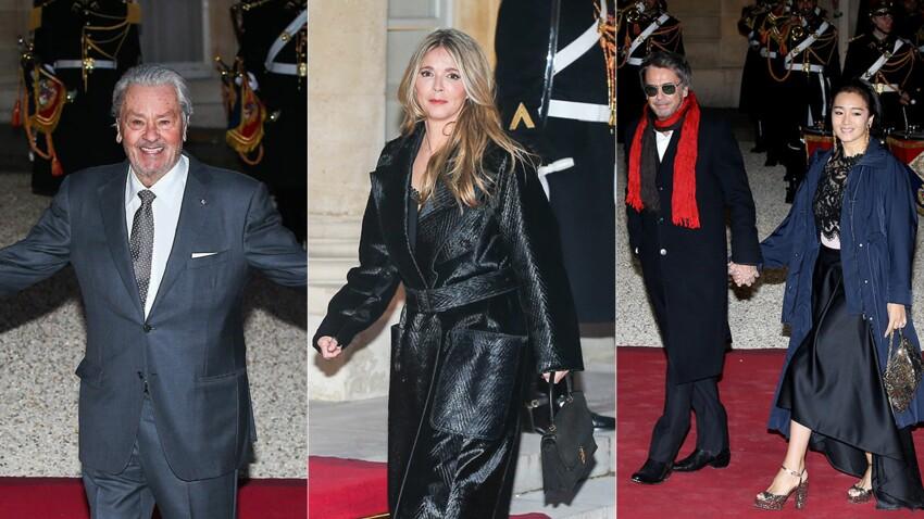 Photos - Alain Delon, Hélène Rollès, Jean-Michel Jarre... Les people à l'Élysée pour accueillir le président chinois