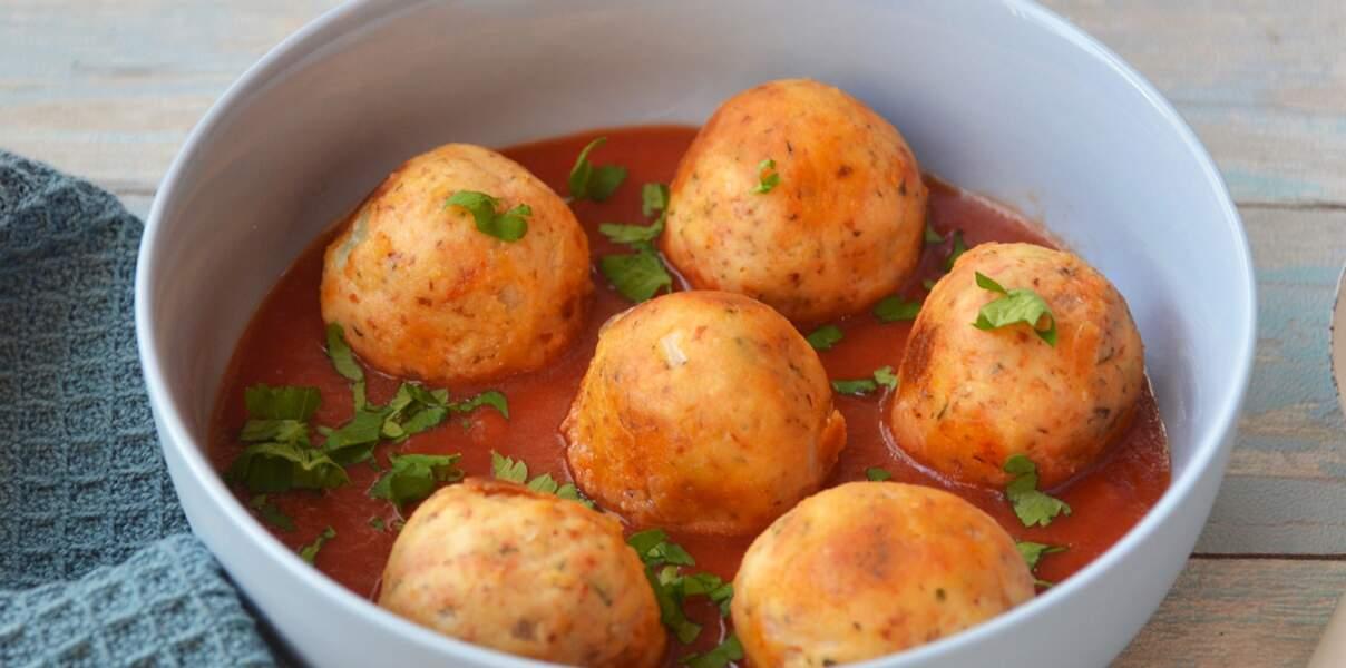 Boulettes vegan tomates et oignons