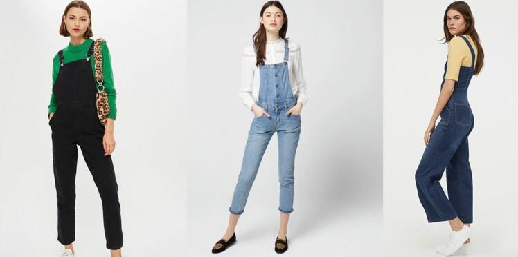 premier coup d'oeil section spéciale acheter populaire Tendance salopette en jean : elle fait son grand retour ce ...