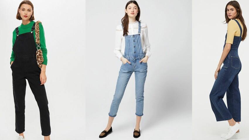 Tendance salopette en jean : elle fait son grand retour ce printemps-été 2019 (et c'est cool)