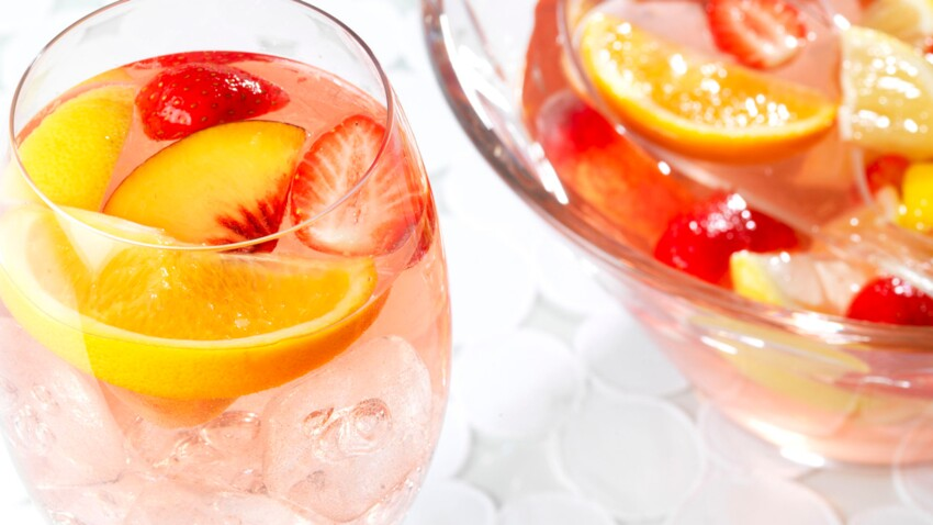 Cocktail Pink Sangria