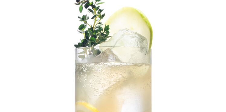 Cocktail gin-pomme-gingembre
