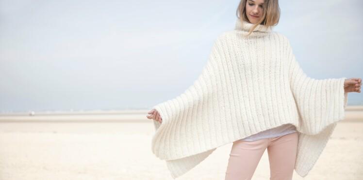 Modèle de tricot gratuit : un poncho en côtes